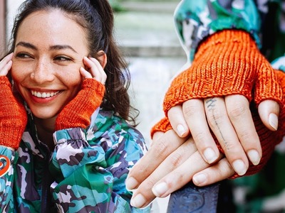 FINGERLESS GLOVES Knitting Pattern Tutorial (Step-by-Step)