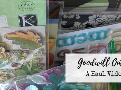 Goodwill Outlet Scrapbook Haul!!