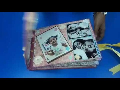 Handmade Scrapbook for baby memories. .