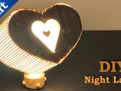 How is made || Ice Cream Sticks Heart Shape Lamp