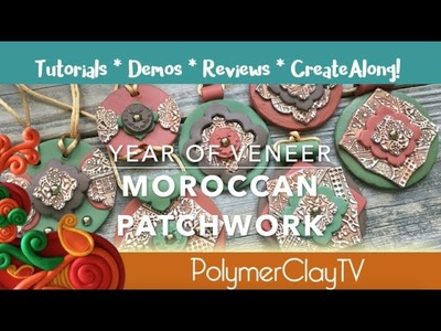 How to Create a Moroccan Patchwork Polymer Clay Veneer
