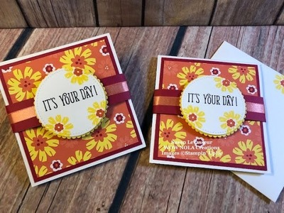 How to Create a Pop-up Fun Fold with Bloom by Bloom Stampin' Up!
