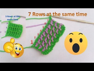 How to Crochet 3-7 rows or Multiple Rows at One Foundation Chain - Crochet 100