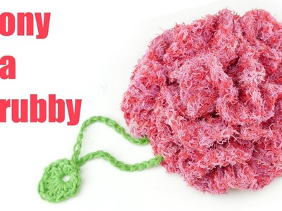 How To Crochet A Peony Spa Scrubby
