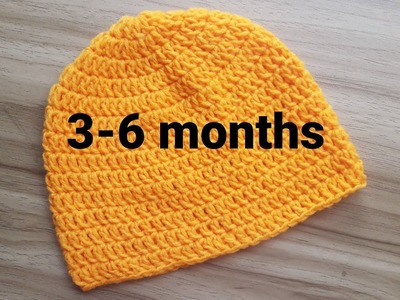 How To Crochet a Simple Baby Beanie for 3-6 months