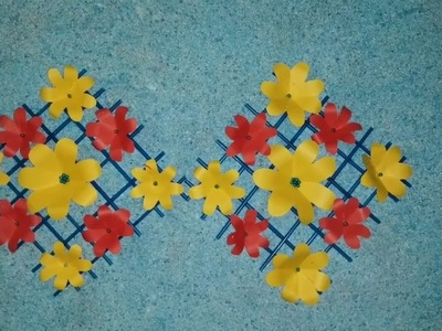 How to decore your walls with hand made flowers
