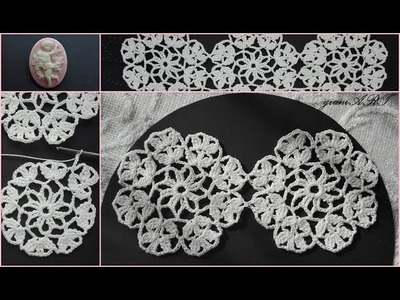 How to Join Lace Round Motifs together.Table runner.Table cloth  Crochet 2*