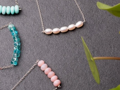 How To Make A Bead Bar Necklace | Kernowcraft