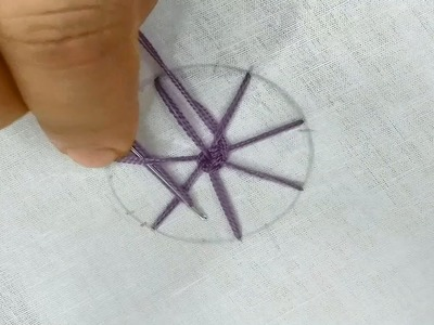 How to make a easy Woven Wheel Stitch design steps by steps