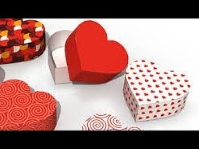 How to make a heart box | crafts with paper | Origami Flower Making