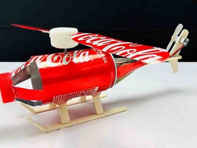 How To Make a Helicopter Form Coca Cola