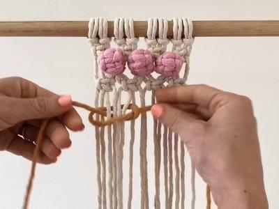How to make a hidden Berry Knot. Macrame