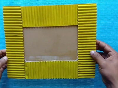 How to Make a Unique Photo Frame at home. Cardboard Photo Frame. Out Of Waste. Room decor idea