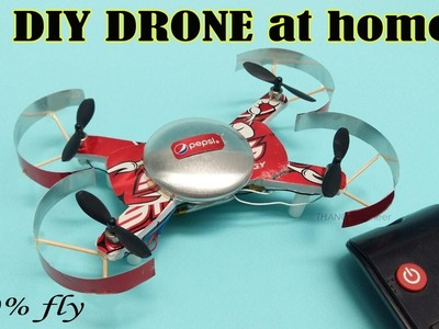 How to make Amazing Drone toy at home   100% fly