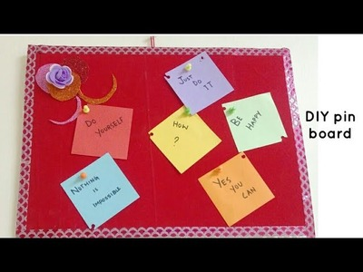 How to make an easy decorative pin board.notice board with thermocol