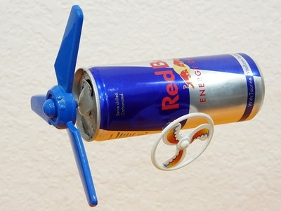 How To Make An Electric Motor From an Red Bull Can 100% Working