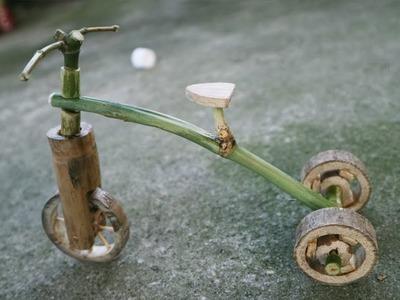 How to make bamboo bike beautiful at home