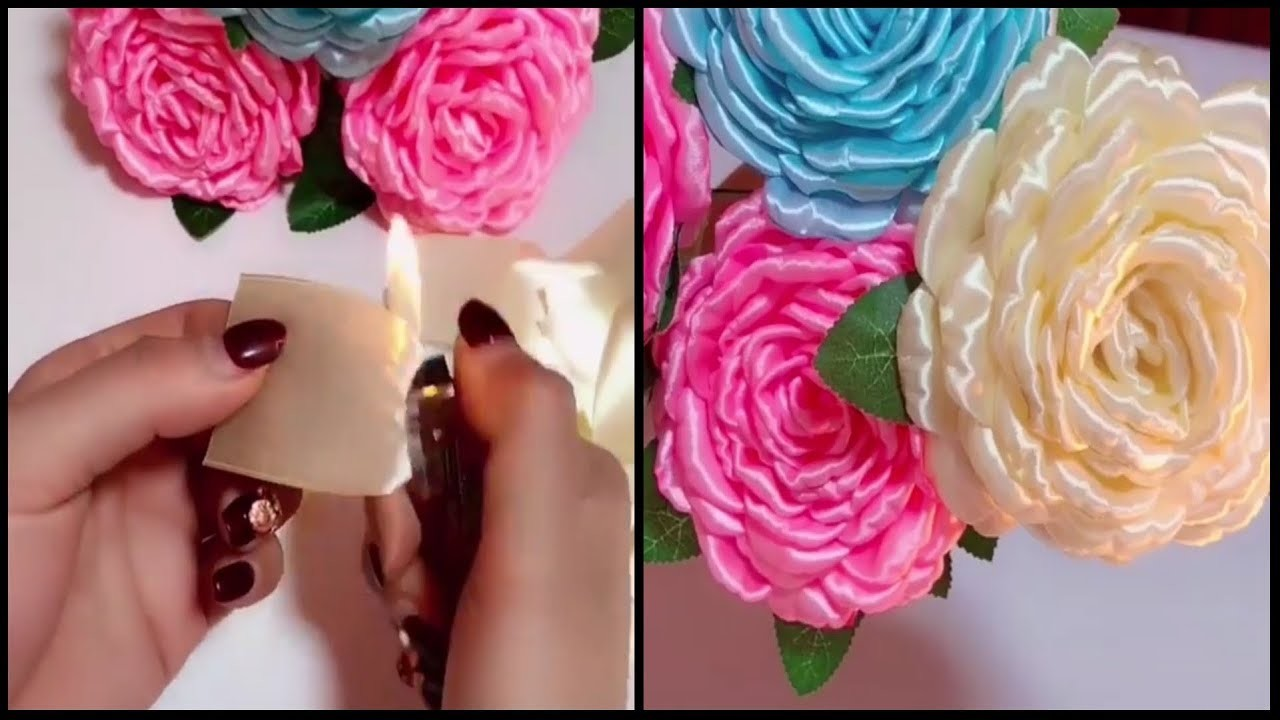How To Make Beautiful Ribbon Flowers?