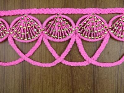 How To Make Beautiful Woolen Door Hanging - Best out of waste - Best reuse ideas - Woolen Craft idea