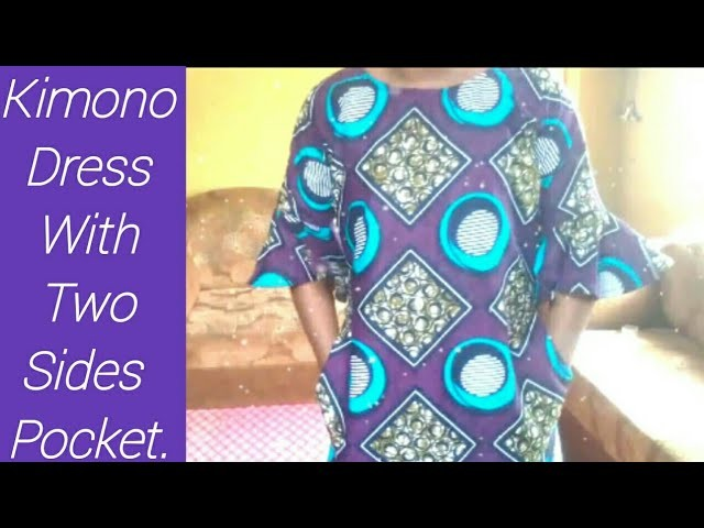How To Make kimono Dress With Two Sides Pockets.