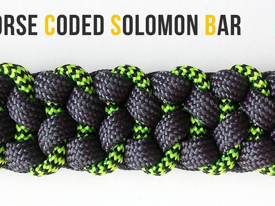 How to make Morse Coded Solomon Bar | Paracord Bracelet tutorial