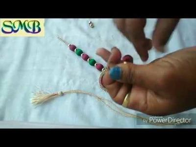 How to make silk thread necklace at home!रेशमी धागे से नैकलेस बनायें