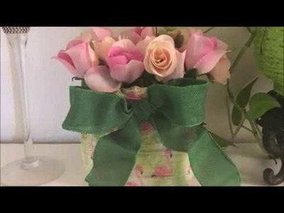 Jarron con botella de detergente(How to make a vase with plastic container. recycling)