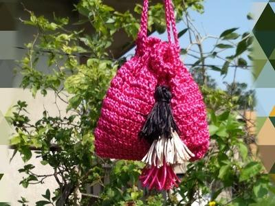 Malai cord bag || crochet hand bag #sangitascraft#malaicordbag
