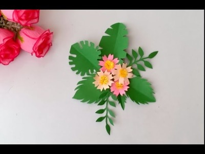 Most requested video. How to make DIY PAPER LEAVES |  DIFFERENT LEAF CUTTING DESIGN IDEAS