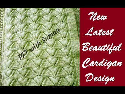 New knitting design.pattern #130 for cardigan, sweater, jacket, frock ||in hindi||