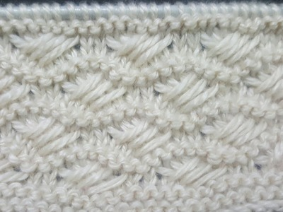 New Wavy knitting pattern | how to knit horizontal wave knitting pattern | Knitting pattern # 63