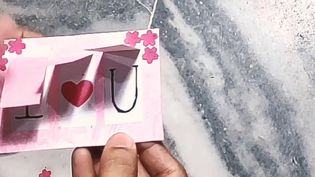 Peek-a-boo Card| Tutorial| How to make peek-a-boo card| DIY