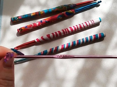 Polymer crochet hook tutorial using Fimo clay by  Crochet Nuts.