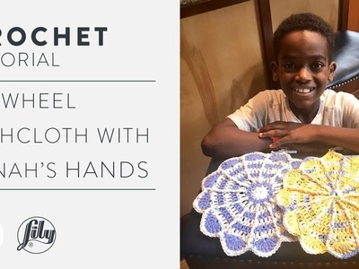 Quick And Easy Crochet Pinwheel Dishcloth With Jonah's Hands | Free Pattern Tutorial