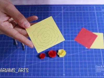 Quilling paper how to make Flower - Rose (Model1) | Making Flower | Flower Tutorial
