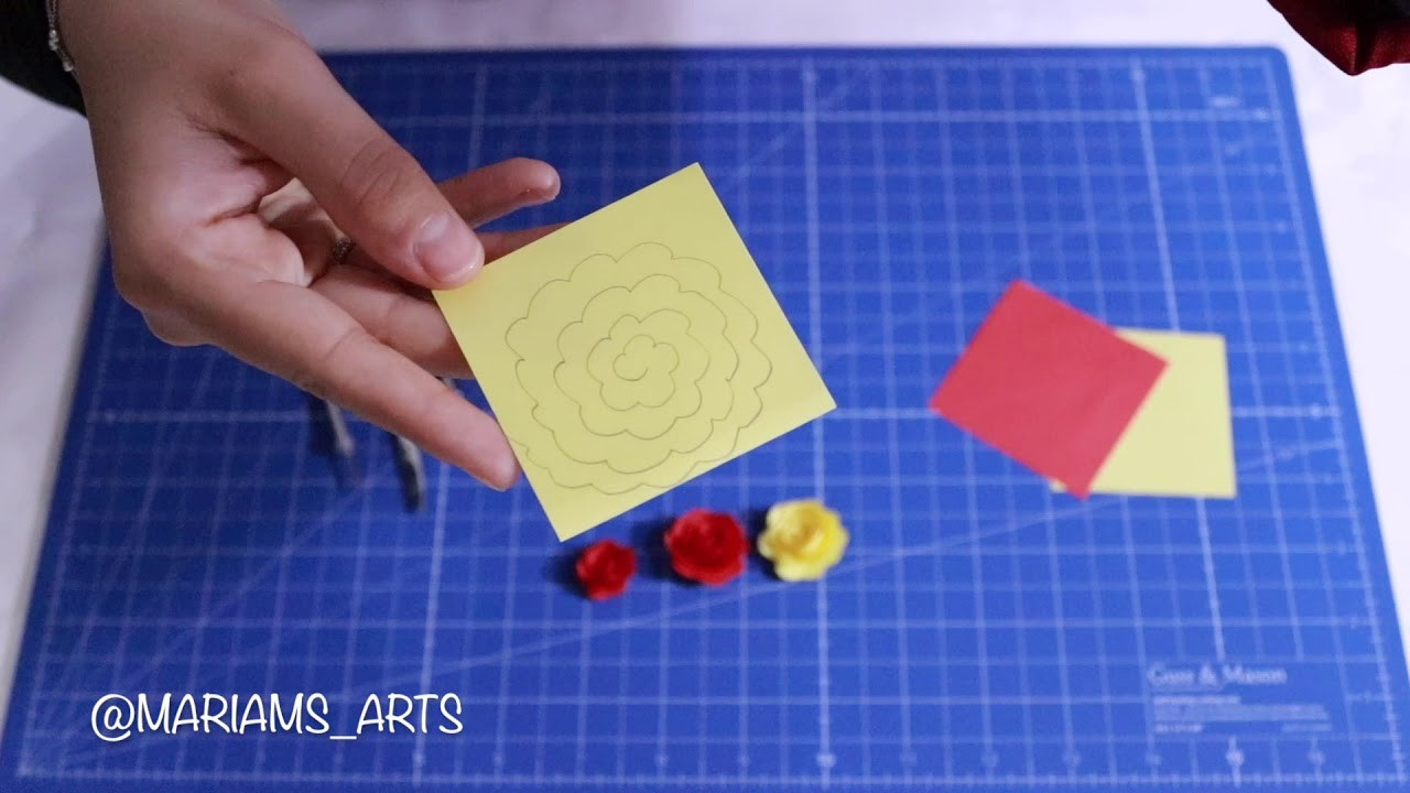 Quilling paper how to make Flower - Rose (Model1) | Making Flower | Flower Tutorial