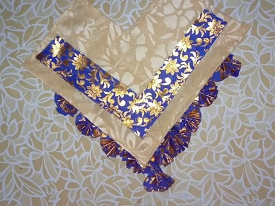 साईं बाबा की सुंदर पोशाक कैसे बनाए. How to stitch Sai baba clothes.Sai baba dress making at home.