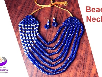 পুতির নেকলেস. How to make beaded baby necklace. collar necklace. necklace making