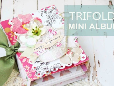 Trifold Mini Album. Album Trifold Scrapbook Tutorial SCRAPBOOKING Scrap Queens | Iralamija