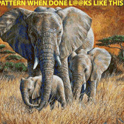 CRAFTS Tropical Jungle Elephant Cross Stitch Pattern***LOOK***