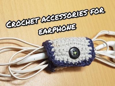 Tutorial crochet accessories for earphone