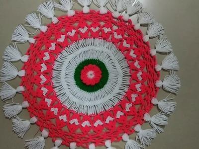 U pin design crochet pattern tablecloth