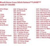 CRAFTS Friesian BLack Horse Cross Stitch Pattern***LOOK***