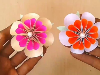 Beautiful flowers idea with colour papers ll Yan_The_Artistry origami paper flowers ????????????