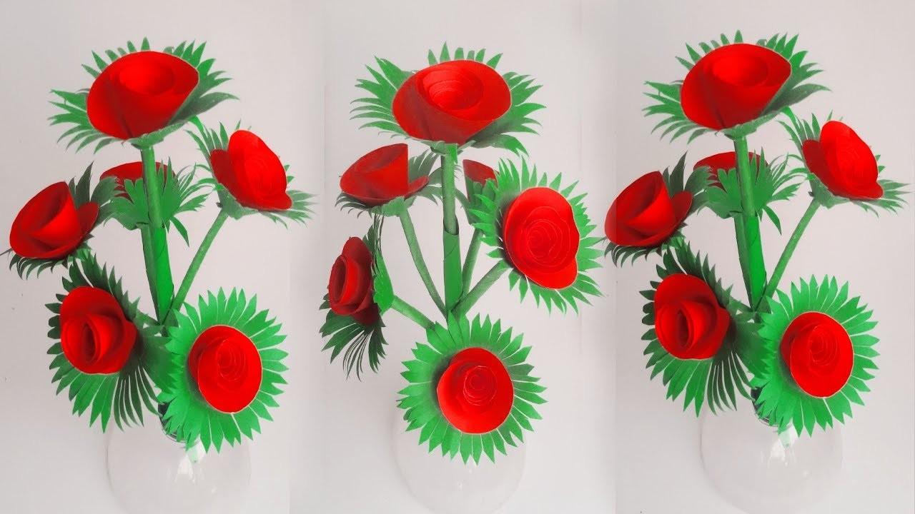 Beautiful  paper flower making Simple idea # DIY origami paper flower hacks
