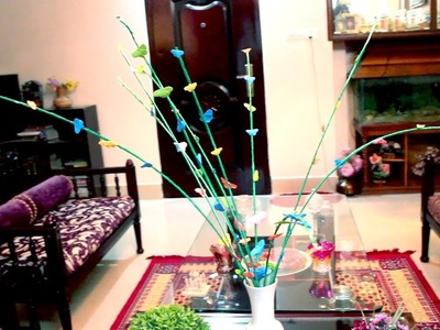 Butterfly stick with paper | Home Decoration | DIY | Creative Home Decor