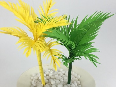 Coconut Tree Making With Paper | Paper Leaves | Paper Crafts