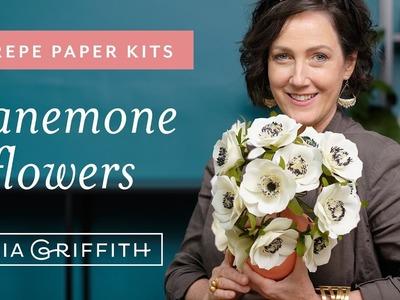 Crepe Paper Anemone Flower Kit (full tutorial)