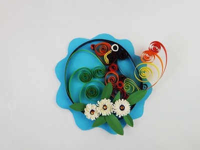 Decoration bird DIY papercraft quilling Deko Vogel