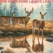 Deer Reflections Cross Stitch Pattern***LOOK***